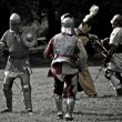 Stock Photo: Fighting Knights