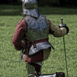 Kneeling Knight — Stock Photo