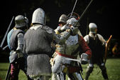 Fighting Knights — Stock Photo
