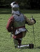 Kneeling Knight — Stock Photo
