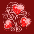 Romantic heart background — Stock Photo