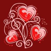 Romantic heart background — Stock Photo
