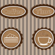 Stock Vector: Stickers to advertise coffee