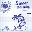 Stock Vector: Summer holliday doodles