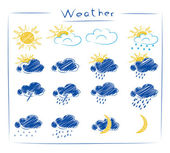 Icons - weather set — Stock Vector