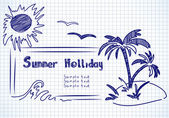 Summer holliday doodles — Stock Vector