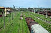 Old railway cars — Stock Photo