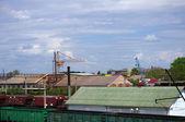 Yük demiryolu i̇stasyonu — Stok fotoğraf