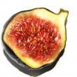 Fig  closeup isolated on white background — Stock Photo