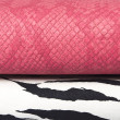 Royalty-Free Stock Photo: Texture zebra and pink leather bag