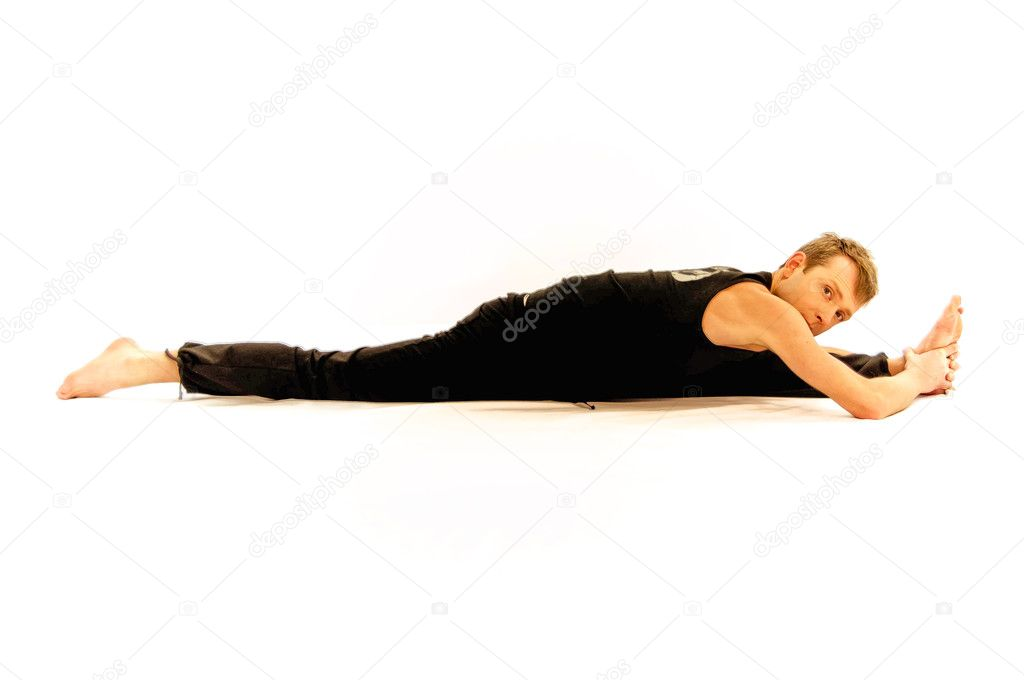 Yoga man — Stock Photo #9771653