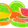 Royalty-Free Stock Photo: Colored sweets isolated