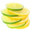 Sliced limes and lemons. — Stock Photo