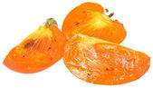 Sliced persimmon — Stock Photo