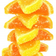 Tower orange and yellow fruit candy isolated — Stock Photo #9440217
