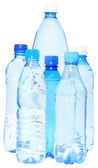 Group bottles with water — Stock Photo