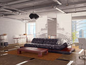 Office interior with sofa — Stock Photo