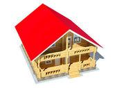 Log house — Stock Photo