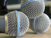Three Microphones — Stock Photo