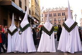 Preparing for the procession at the Semana Santa (Holy Week) in Spain — Stock Photo