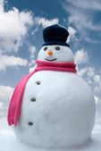Snowman In The Clouds — Stock Photo