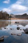 Mountain lake landscape — Stock Photo