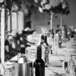 Wedding reception arragement — Stock Photo