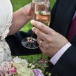 Stock Photo: Bride and Groom with Champagne