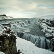 Gullfoss water in iceland — Stock Photo #9010439