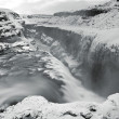 Gullfoss water in iceland — Stock Photo