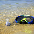 Snorkel on the beach — Stock Photo