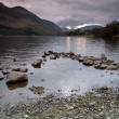 Lake Buttermere and mountain landscape — Stock Photo
