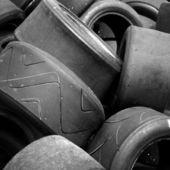 Corse auto pneumatici usati — Foto Stock