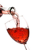 Red wine pour — Stock Photo