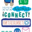 Royalty-Free Stock Imagen vectorial: Internet and technology doodles