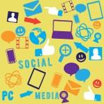 fond des médias sociaux sans soudure — Vecteur