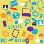 naadloze sociale media achtergrond — Stockvector