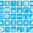 Collection of music icons - Stock Vector