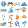 Stock Vector: Set of tourism icons for web applications