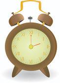 Vector brown clock — Stock Vector