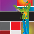 Stock Vector: Color man pop art