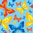 Bright seamless pattern with butterfly - vector illustration — Stock Vector