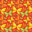 Bright seamless pattern with butterfly - vector illustration — Stok Vektör