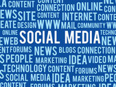 ソーシャル メディアの概念 — ストックベクタ