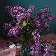 Still life with lilac flowers — Stock Photo #10518188