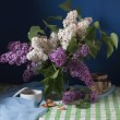 Still life with lilac flowers — Stock Photo #10518260