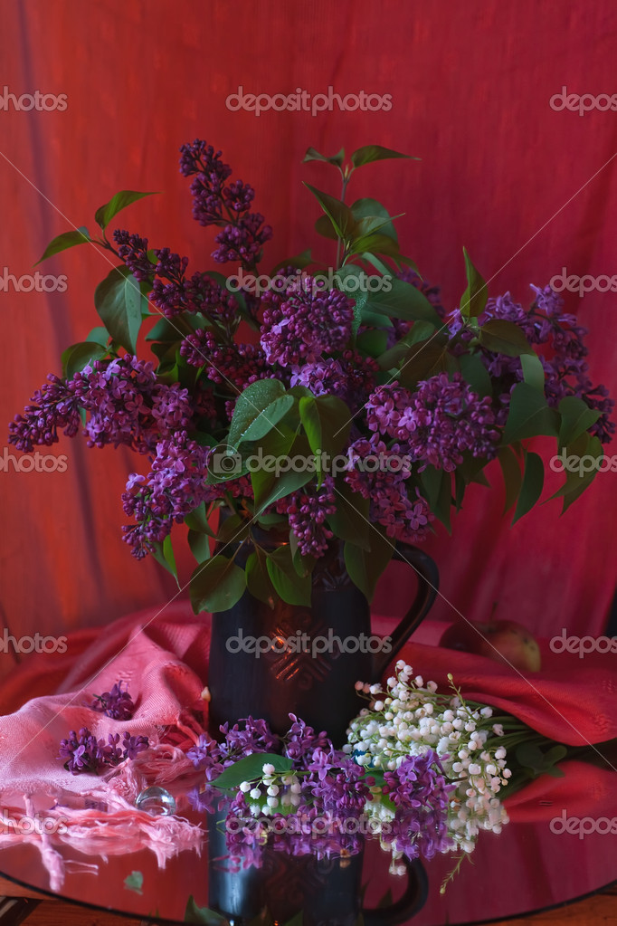Still life with lilac flowers — Stock Photo #10518101