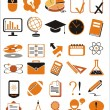 Stock Vector: 30 education icons vector illustration set