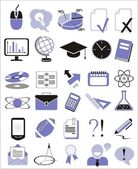 30 education icons — Stock Vector