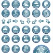 Vector weather icon set buttons — Stock Vector